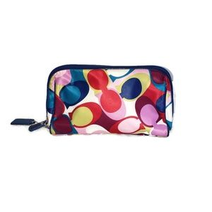 Coach signature Chelsea multicolored cosmetic bag